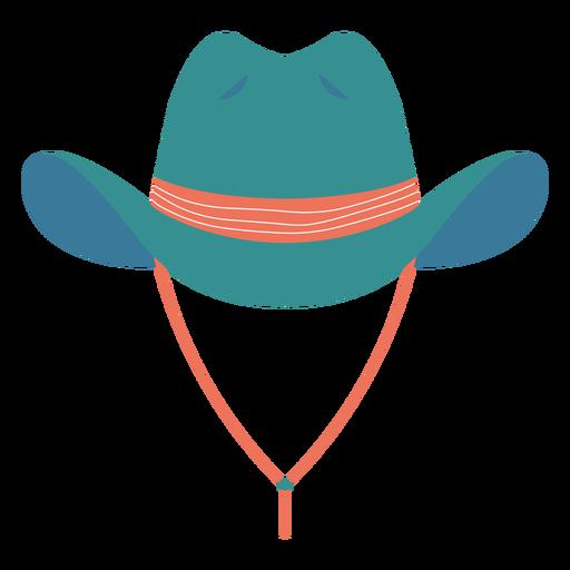 Blue cowboy hat semi flat