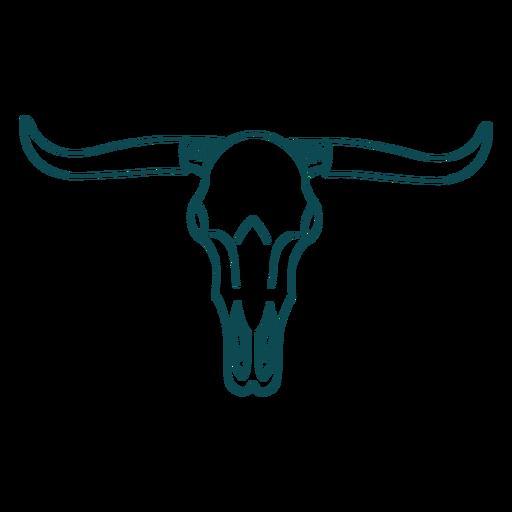 Wild west bull skull stroke