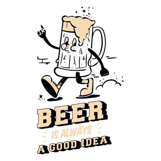 Beer is always a good idea quote color stroke
