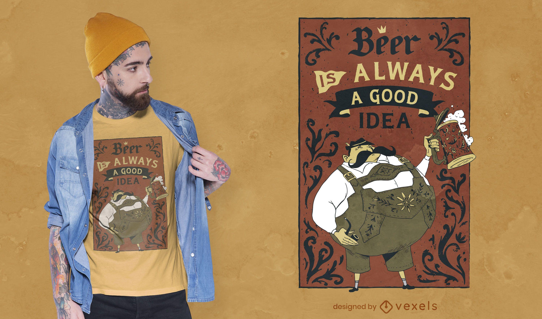 Oktoberfest beer quote t-shirt design