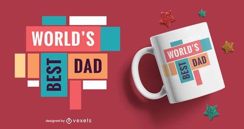 World's best dad flat mug design