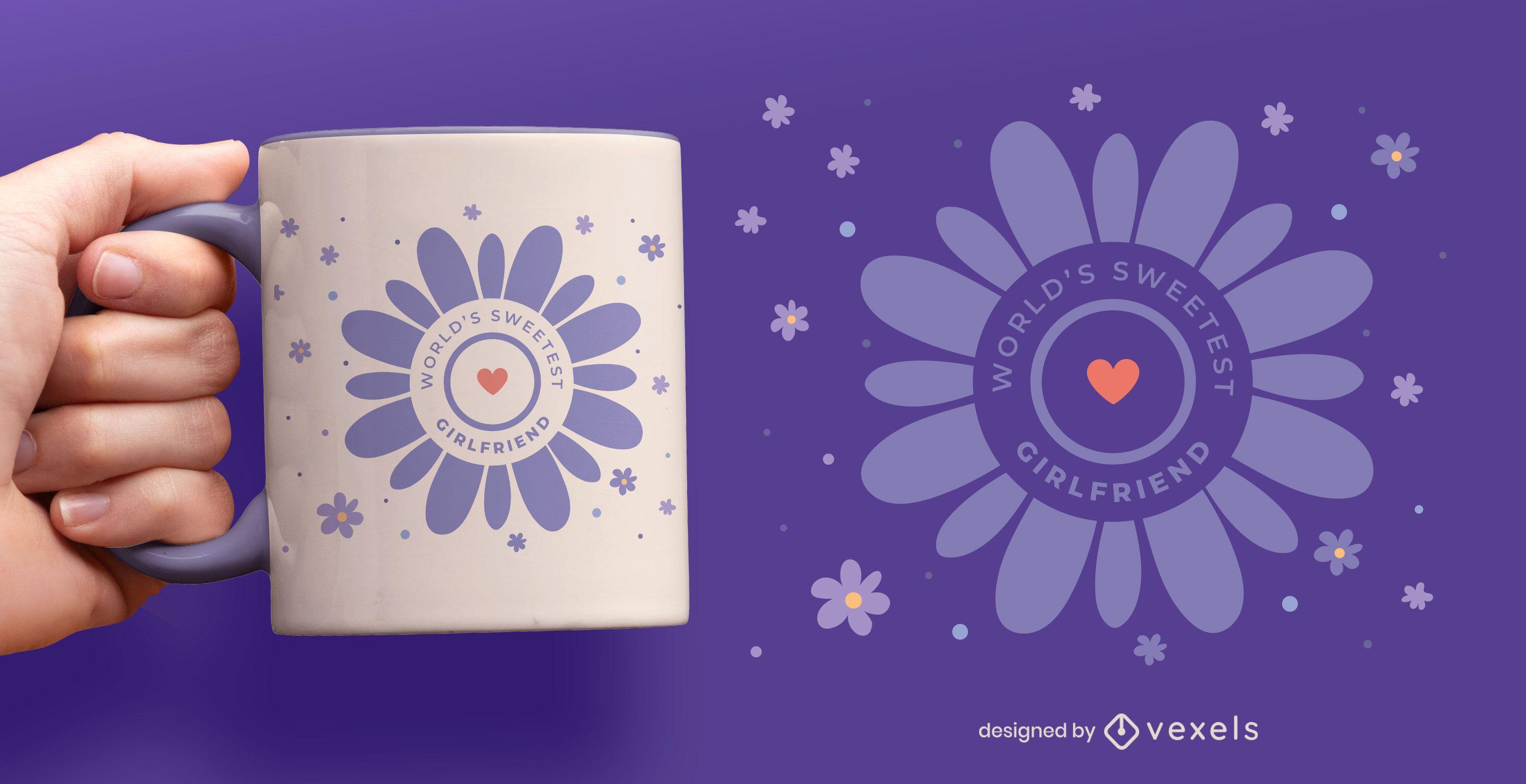 World's sweetest girlfriend mug design