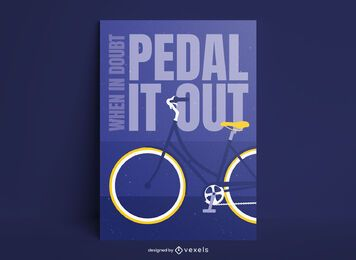 Cartaz de citação de ciclismo plano