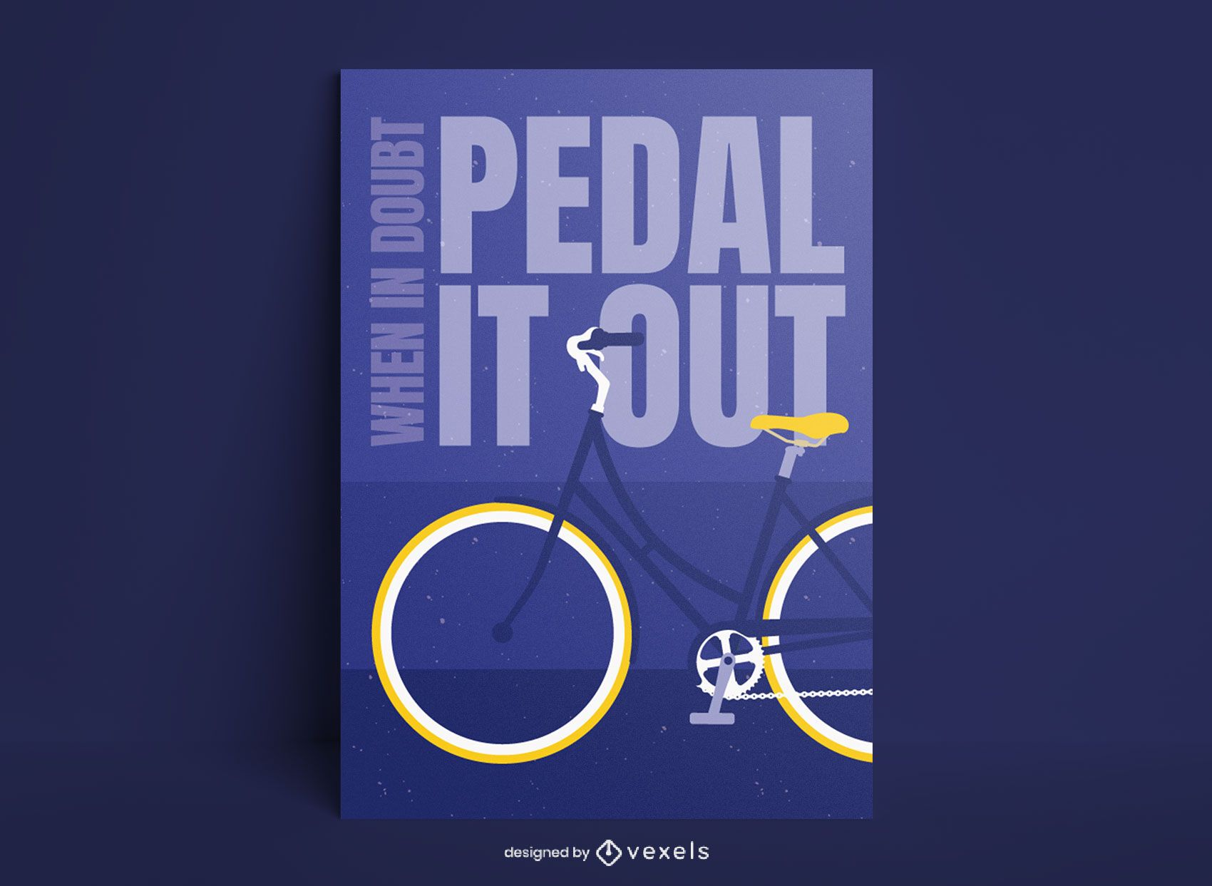 Flat cycling quote poster