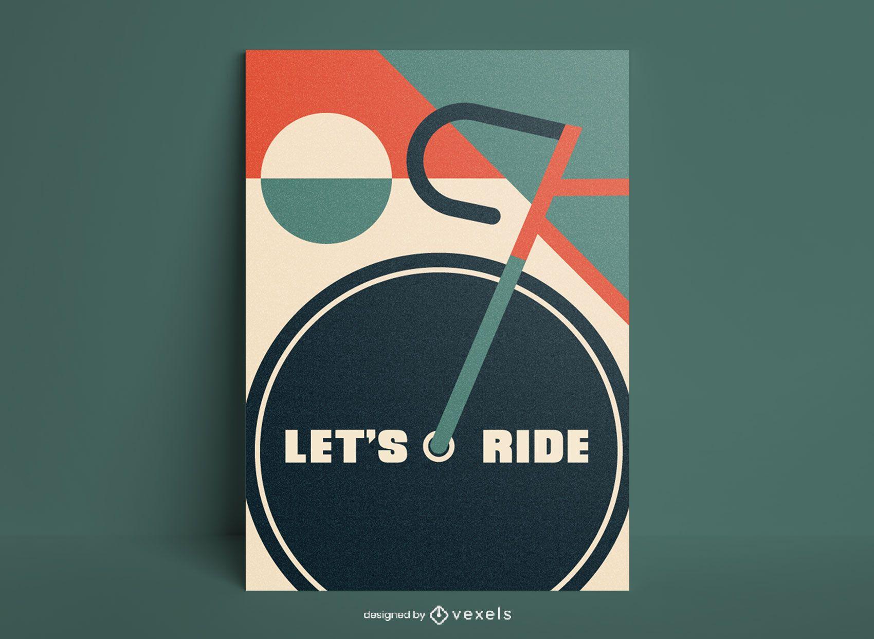 Cartel de ciclismo plano mínimo.
