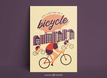 Cartaz de citações vintage de ciclismo