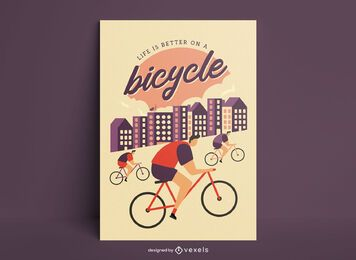 Vintage cycling quote poster