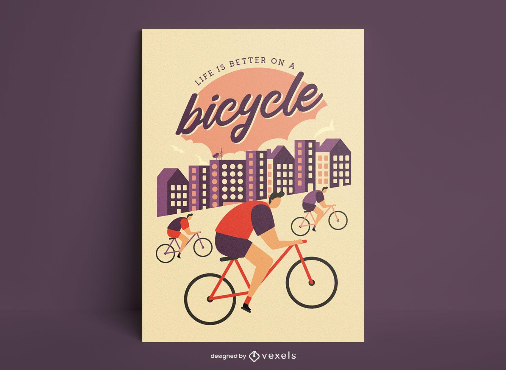 Cartel de cita de ciclismo vintage