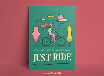 Cartaz apenas de passeio de bicicleta