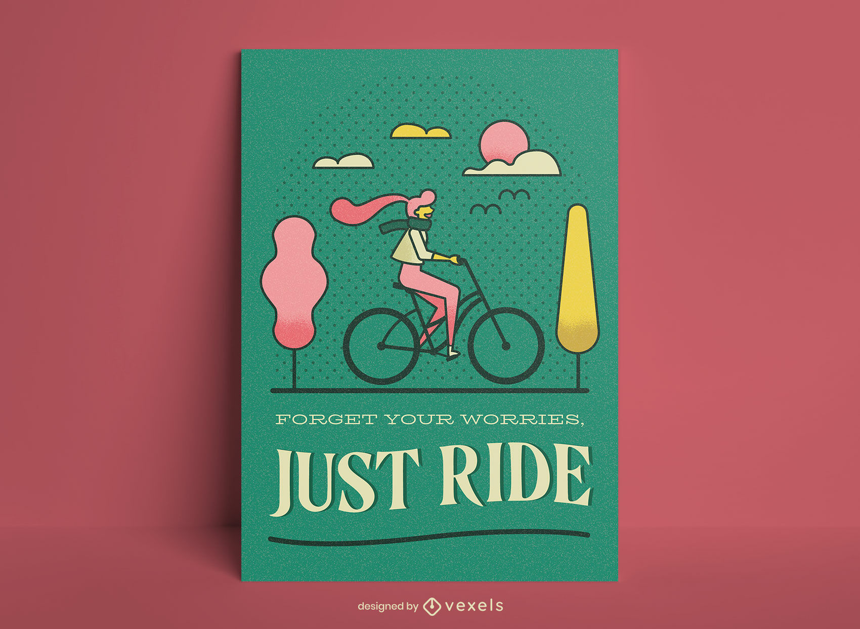 Just ride cycling poster