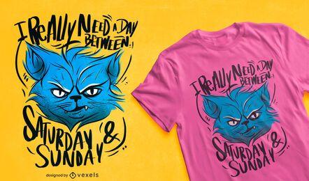 Mürrisches Katzentierzitat T-Shirt Design