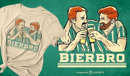 Amigos bebiendo cerveza diseño de camiseta.