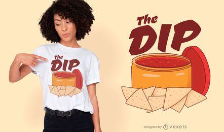 T-Shirt-Design mit Nachos-Dip-Sauce
