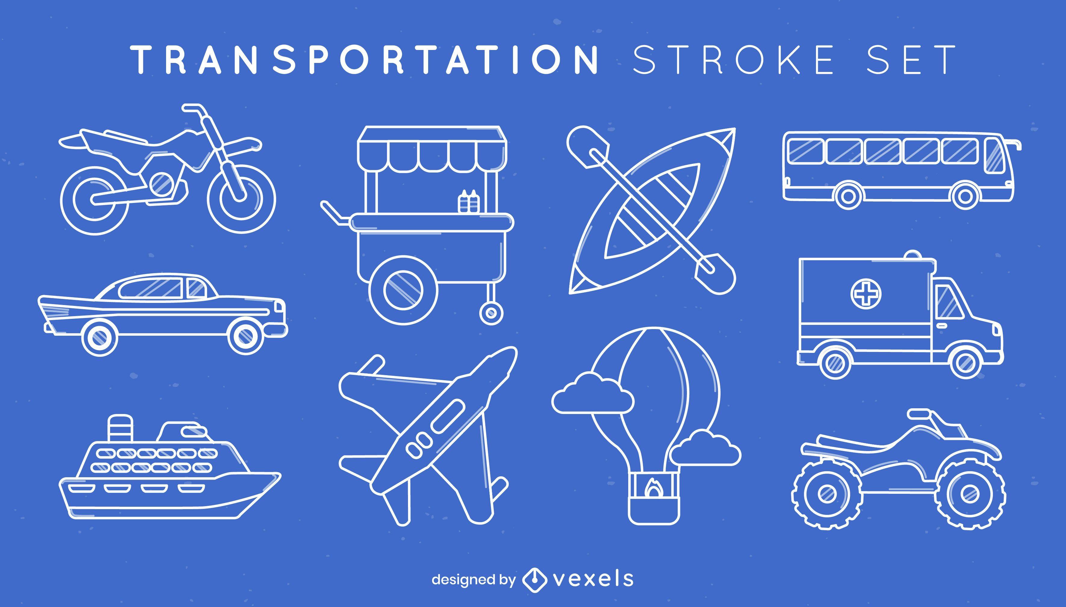 Stroke set of vehicles