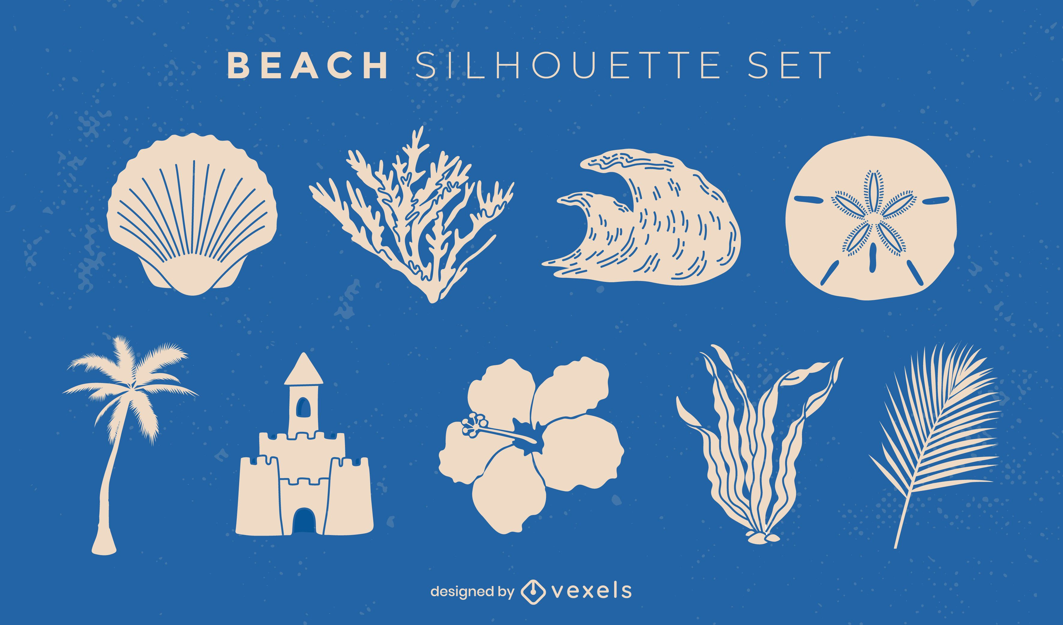 Beach and summer cut out elements