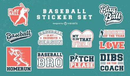 Set of vintage baseball stickers