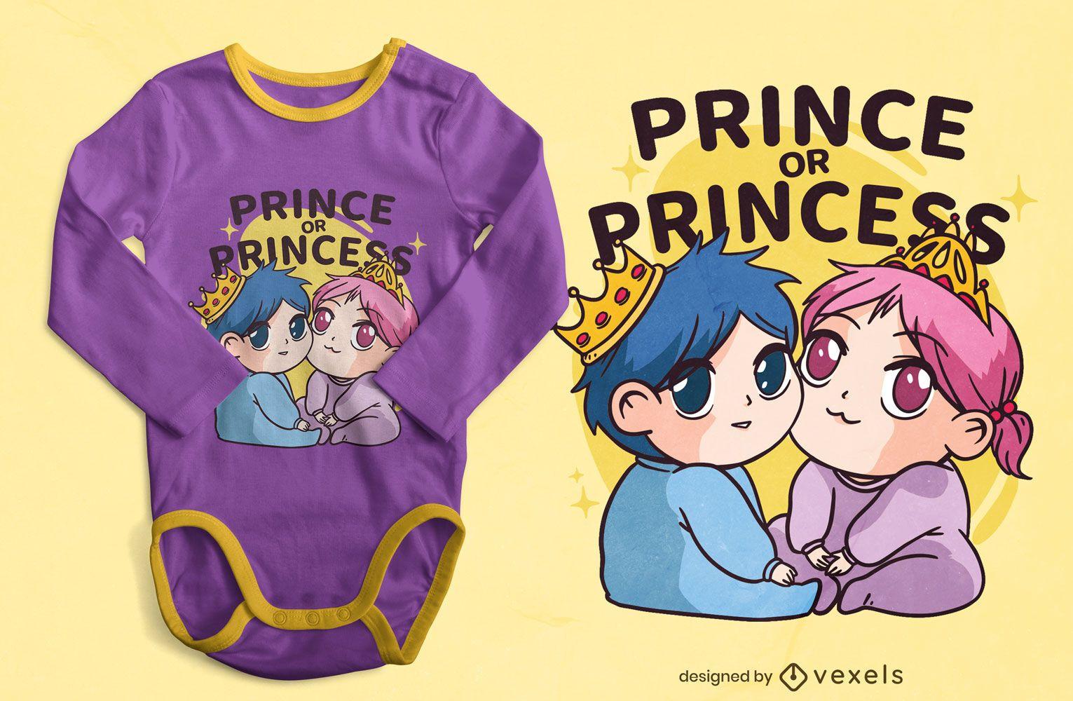 King and queen babies t-shirt design
