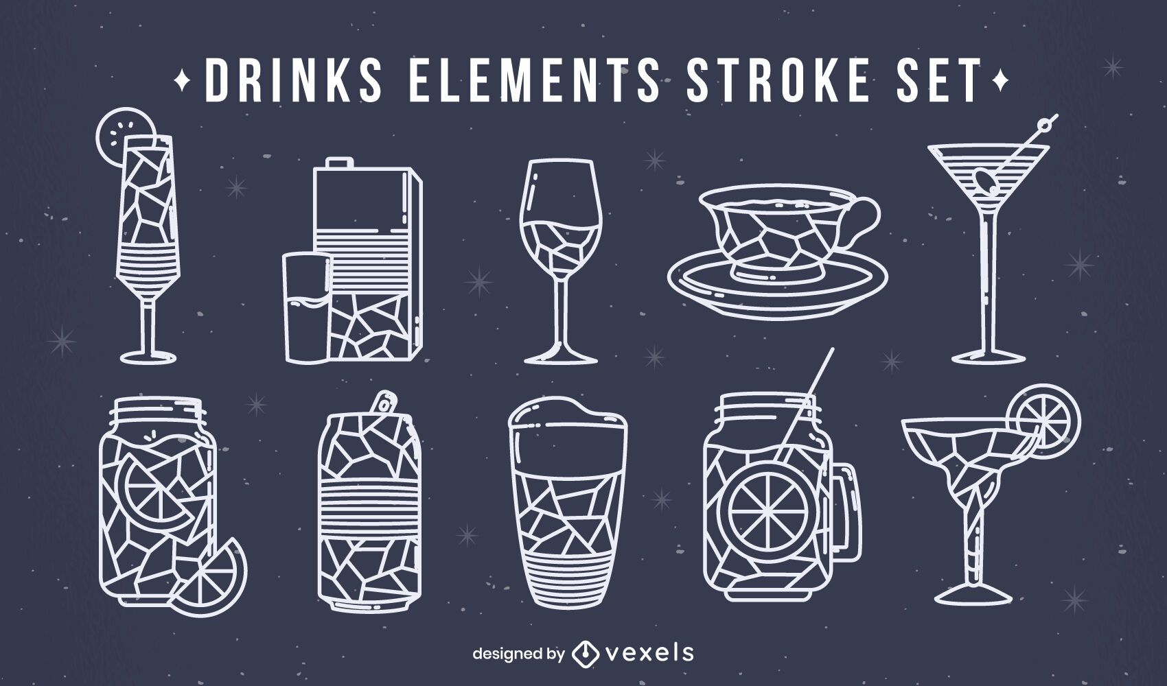 Bebidas alimentam conjunto poligonal