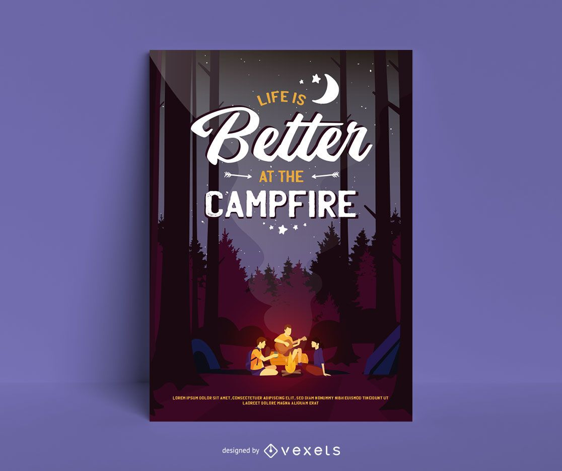Life is better at the campside poster