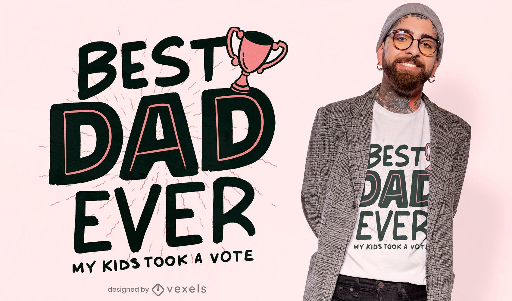 O melhor design de t-shirt engraçada do troféu do pai