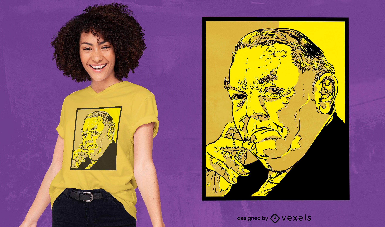 Politician man portrait t-shirt design