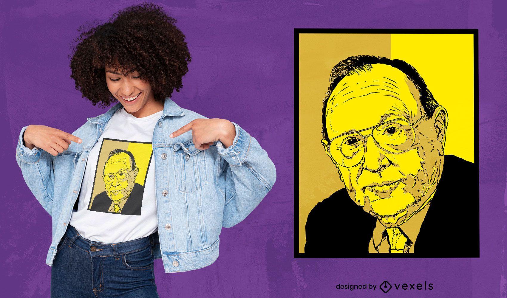 German politician portrait t-shirt design