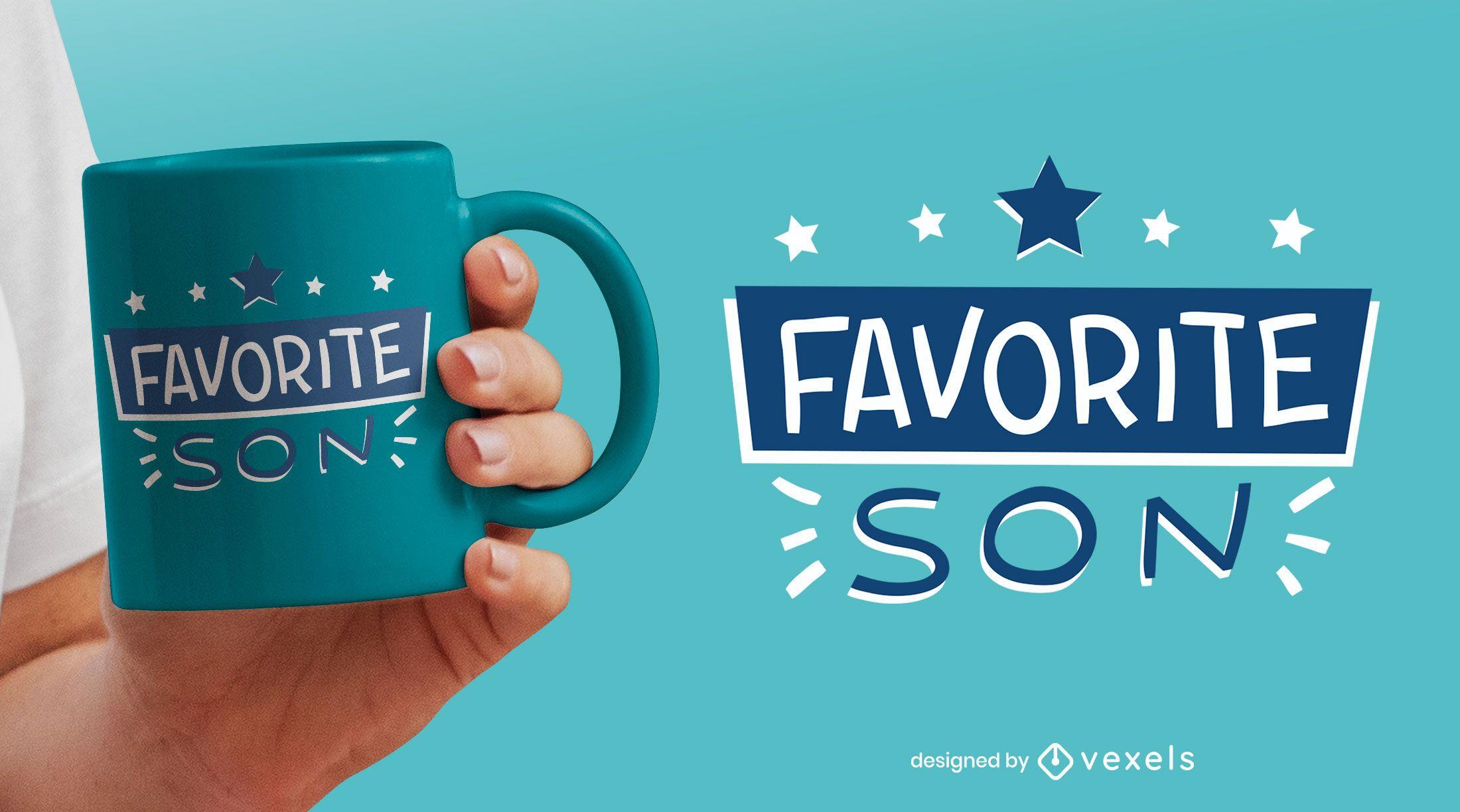 Favourite son flat mug design