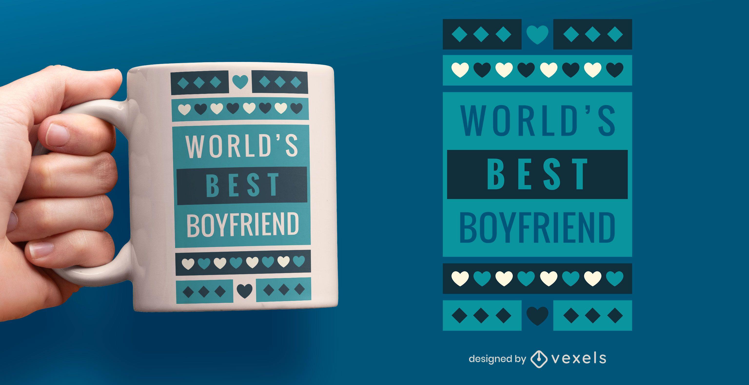 World's best boyfriend mug design