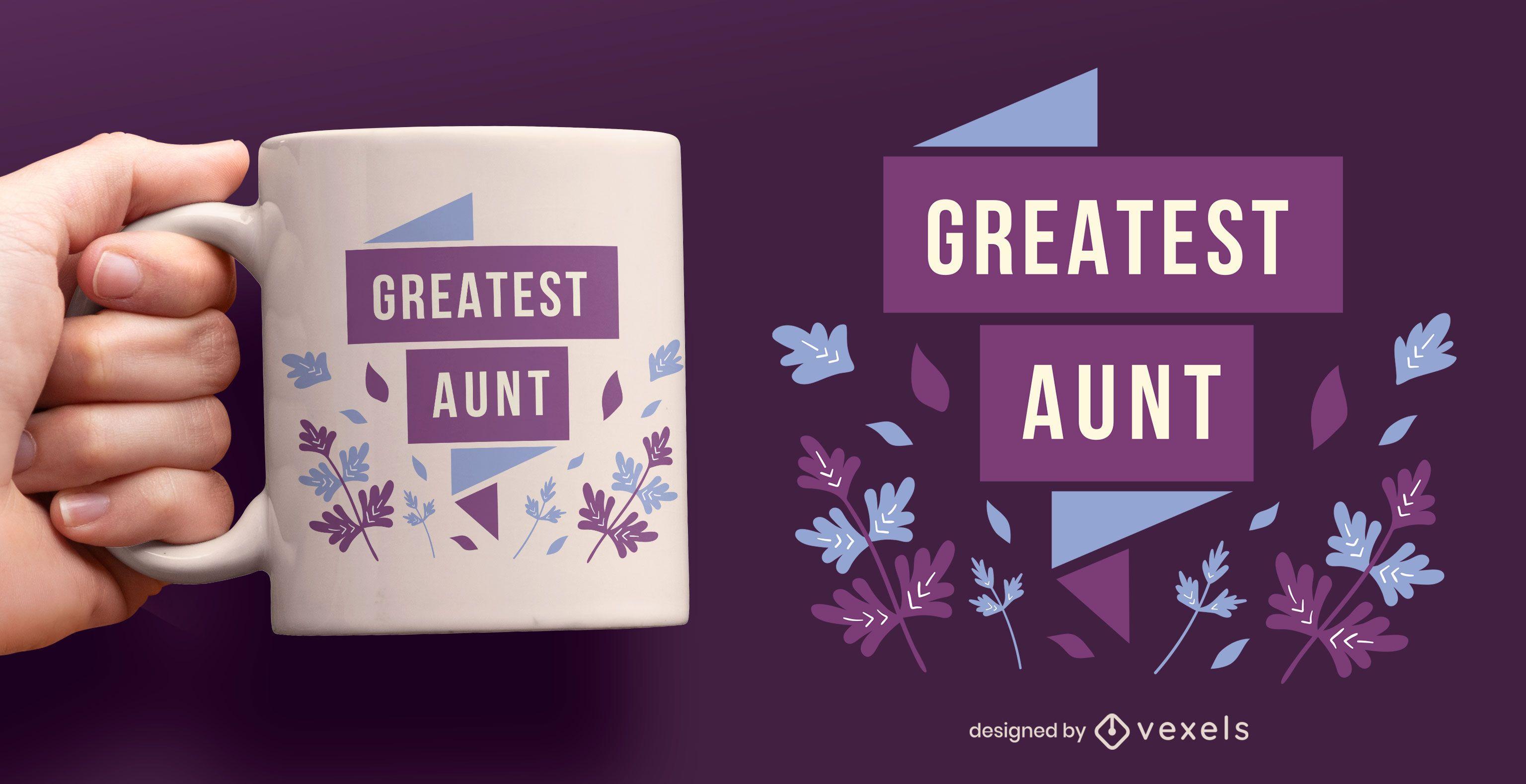 Greatest aunt flat mug design