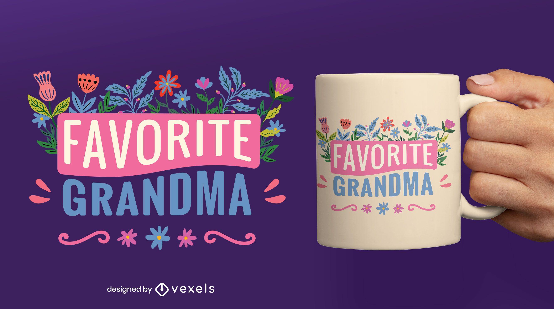 Favorite grandma flat mug design