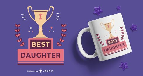Best daughter prize flat mug design