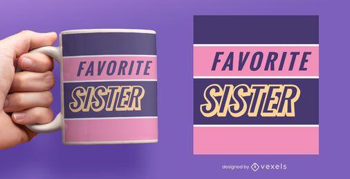 Favorite sister flat mug design