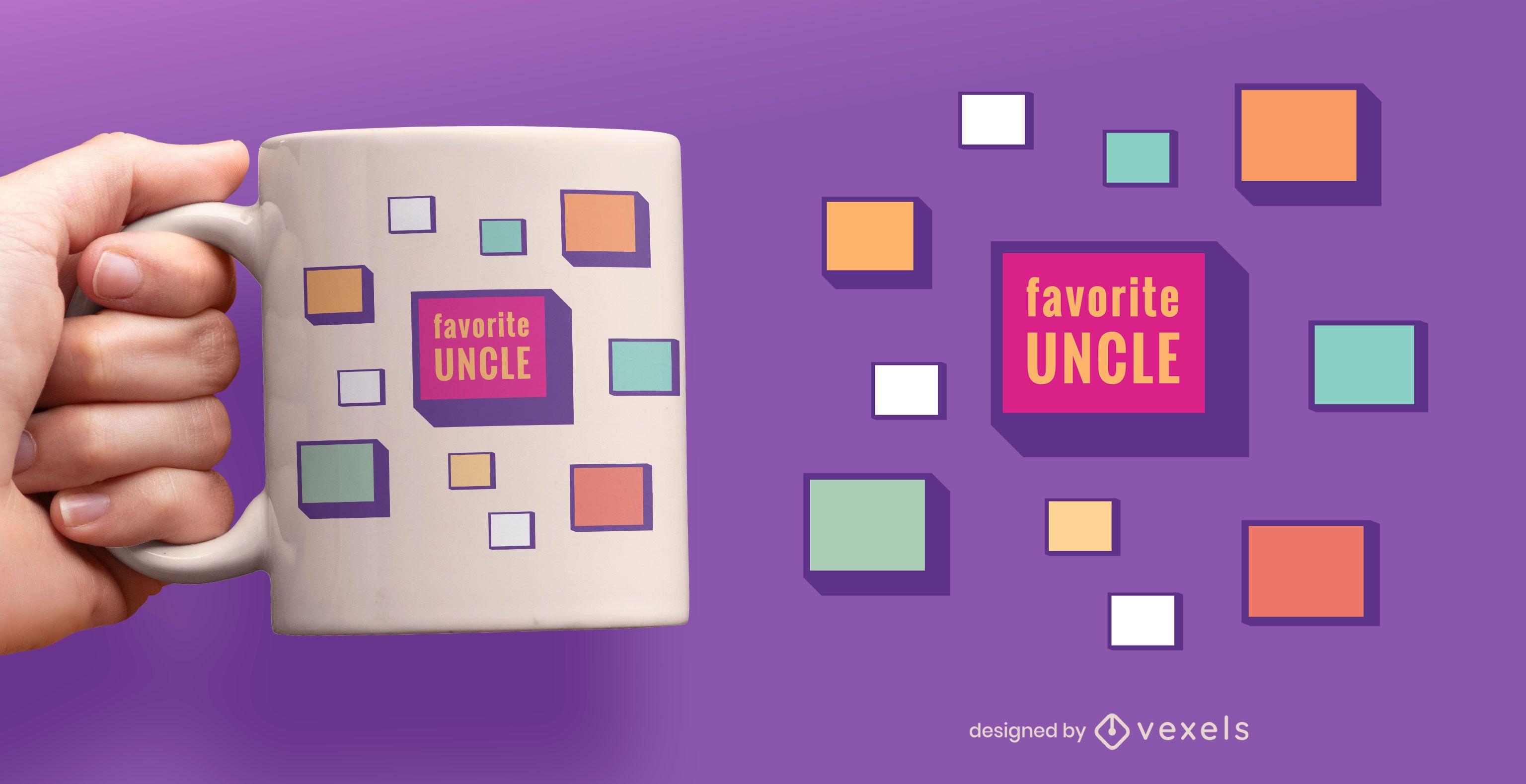 Favorite uncle flat mug design