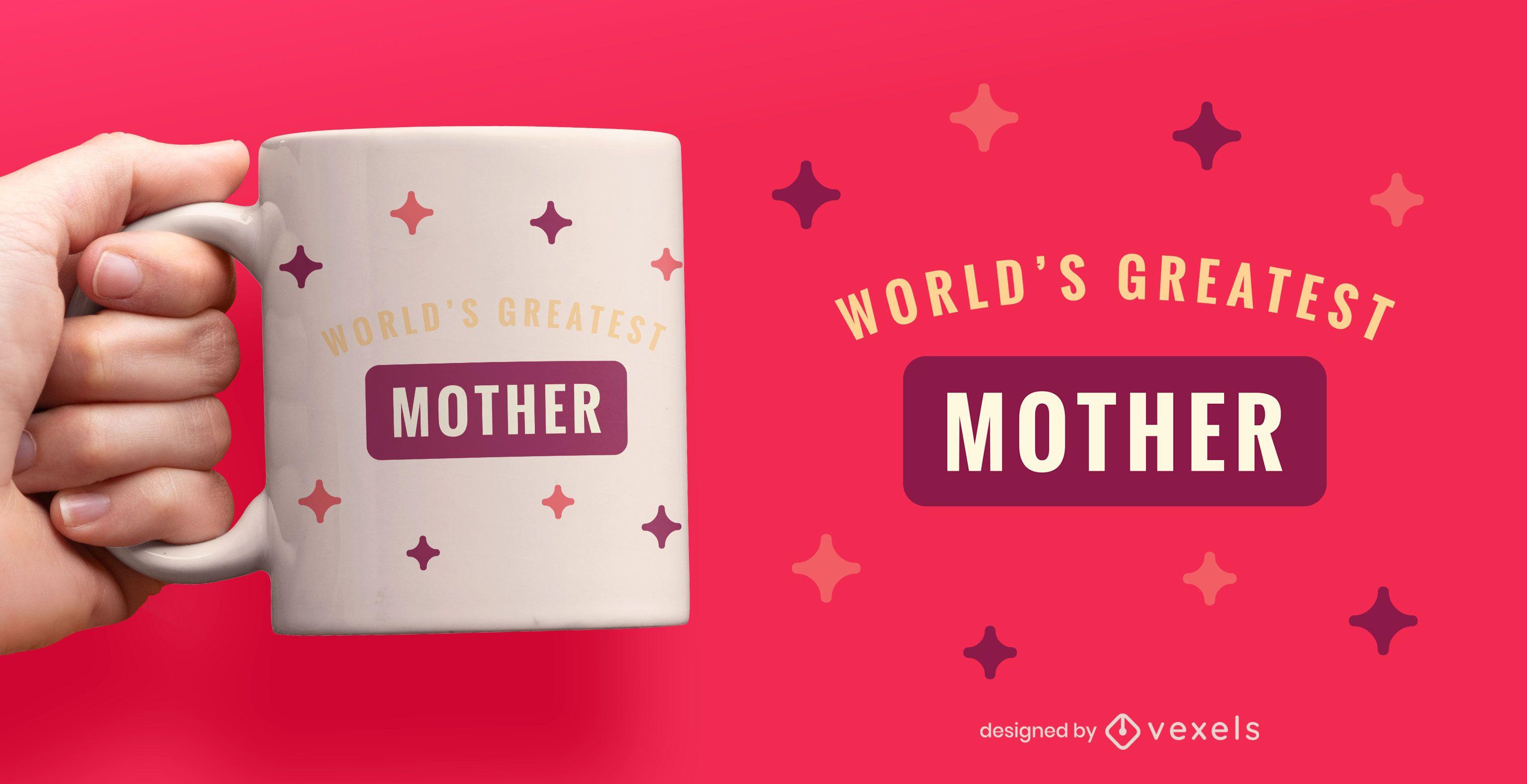 World's greatest mother flat mug design