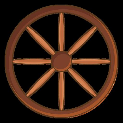 Wild west cart wheel color stroke
