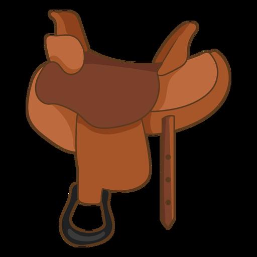 Wild west horse saddle color stroke
