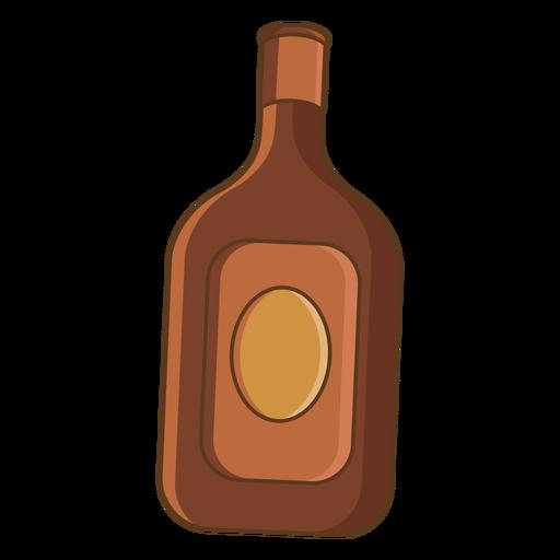 Wild west whisky flask color stroke
