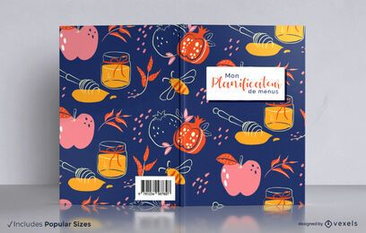 Menu planner french cooking book cover design