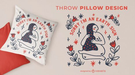 Virgo zodiac sign quote throw pillow
