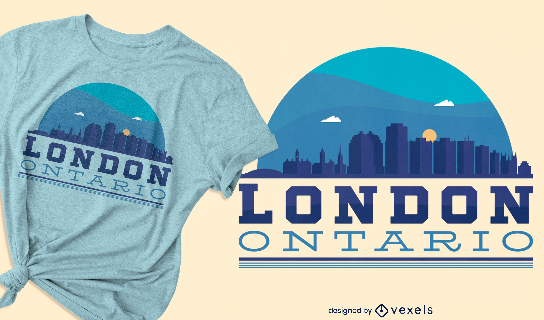 Design de camiseta da cidade de Londres do horizonte