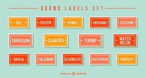 Seed labels flat set