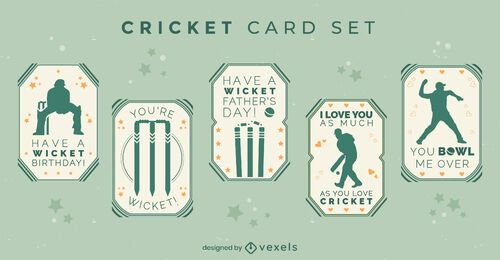 Cricket card with quotes set