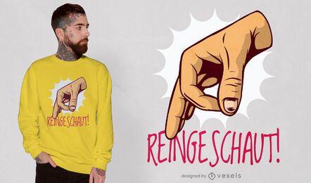 Hand symbol okay gesture t-shirt design