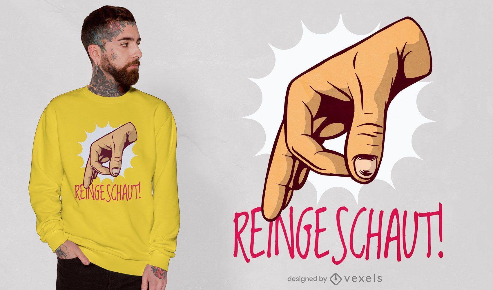 Diseño de camiseta de gesto bien símbolo de mano