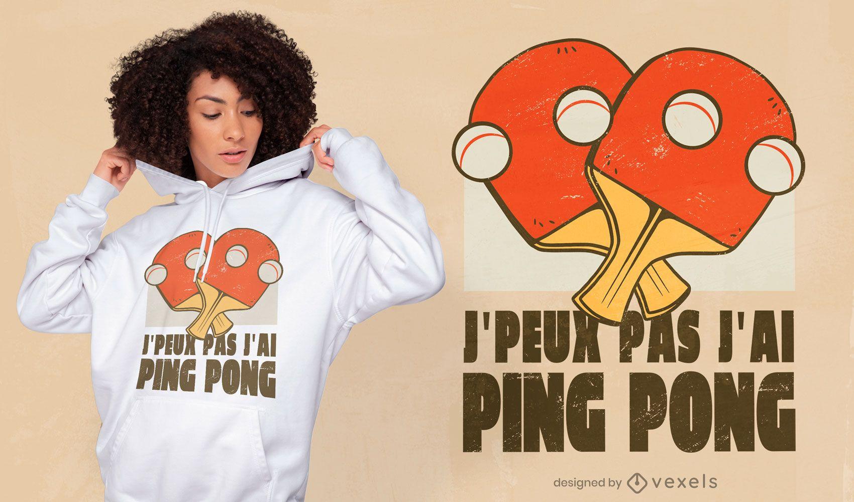 Design de camiseta esporte ping pong
