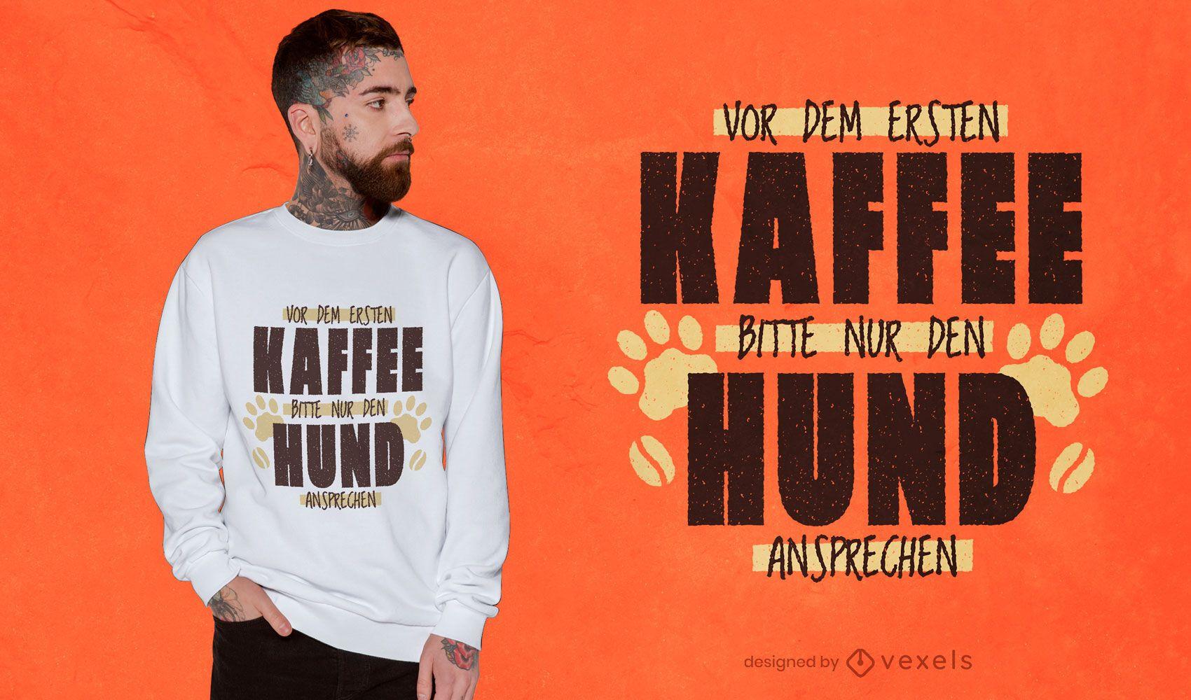 Diseño de camiseta de cita de animal de perro divertido