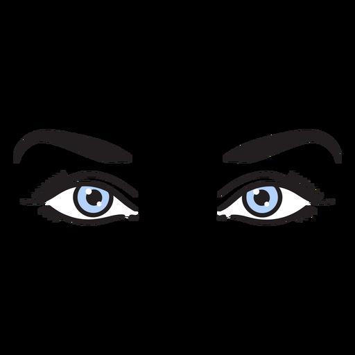 Blue eyes color stroke