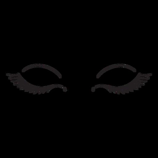 Eyelashes extensions stroke