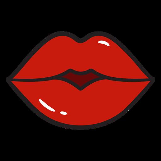 Kissy lips color stroke