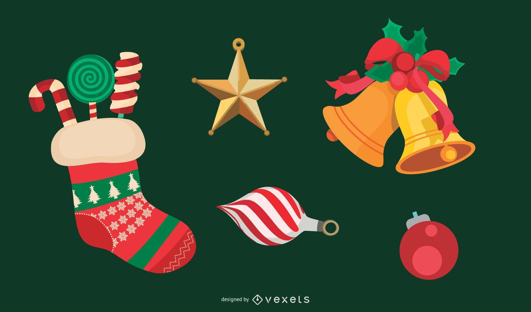 Vector de decoración de Navidad